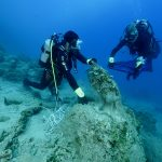 Divers collect ghost nets and ghost gear from Gokova Bay Credit: Zafer Kazilkaya/AKD